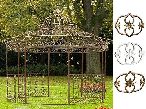 CLP XXL Luxus Pavillon Romantik aus pulverbeschichtetem Eisen l Ø 5 m, Höhe 4,45 m l Runder...