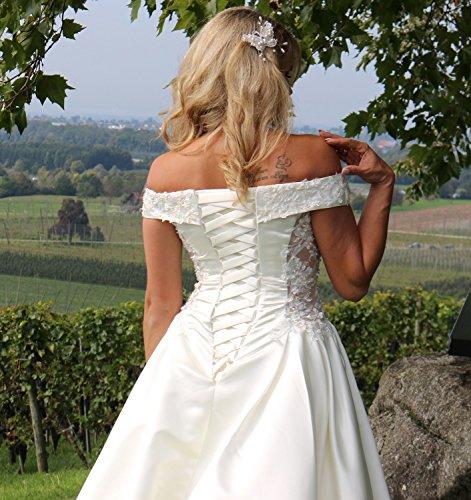 Luxus Brautkleid Hochzeitskleid Weiß nach Maß - 6
