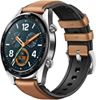 Huawei Watch GT Classic Stainless steel Saddle Brown Hybrid Strap - FTN-B19