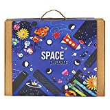 #5: SPACE EXPLORER 6-in-1 Educational Game for Boys and Girls: Contains DIY Activities, Science Experiment, Board Game, and Crafts for Kids