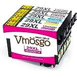 Vmosgo 29XL Remplacer pour Epson 29 Cartouches d'encre, pour Epson Expression Home XP-235 XP-345 XP-255 XP-247 XP-435 XP-245 XP-445 XP-442 XP-335 XP-342 XP-332 XP-432 XP-330 XP-430 XP-257