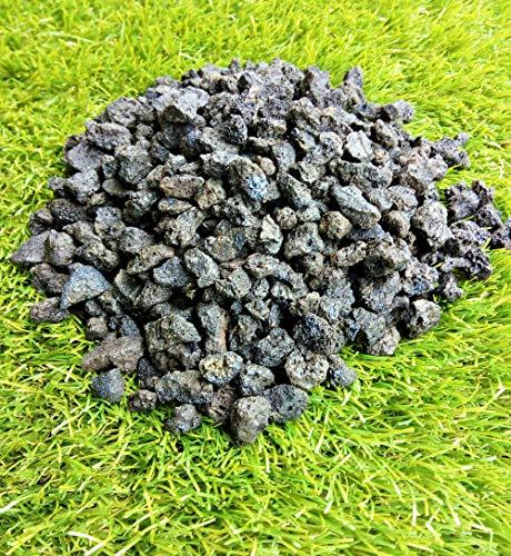 gmc srl Lapillo vulcanico Nero 15/18 mm Sacco 25 kg substrato per Piante, pacciamatura