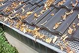 Westfalia Edelstahl Dachrinnenschutz 18 Platten je 50 cm Länge/ 12,5 cm Tiefe