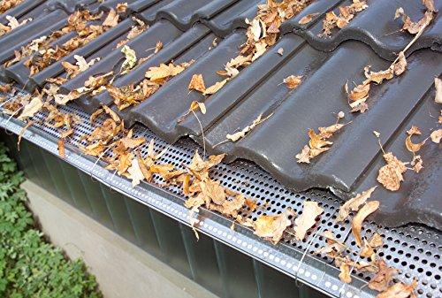 Westfalia Edelstahl Dachrinnenschutz 18 Platten je 50 cm Länge/12,5 cm Tiefe