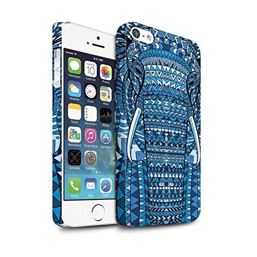 STUFF4 Matte Snap-On Hülle / Case für Apple iPhone 7 Plus / Elefant-Farbe Muster / Aztec Tier Muster Kollektion Elefant-Blau