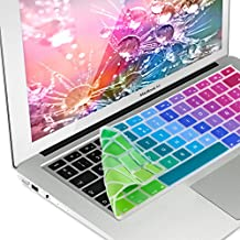 kwmobile Protector de teclado de silicona QWERTY (ES) para Apple MacBook Air 13''/ Pro Retina 13''/ 15'' en Diseño paleta de colores multicolor verde azul