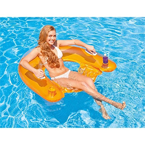Intex Erwachsene N Sit 'n Float, Transparent/Green/Orange, 152 x 99 cm