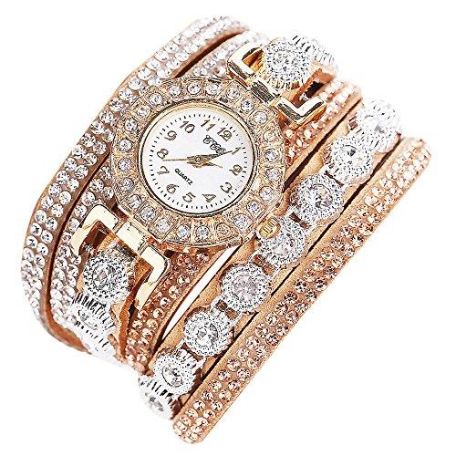 Schöne Mode Design Strass Armband für Weibliche (Beige) ()