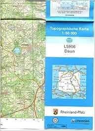 Amtl Topographische Karte Blatt L5906 Daun Eifel 1 50 000