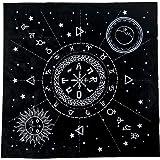 Tovaglia per tarocchi da 49 cm, in flanella, per altare triplice astrologia, con stampa di tarocchi