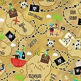 Piraten-Stoffe–Halbmeterware–von Timeless Treasures–100% Baumwolle braun