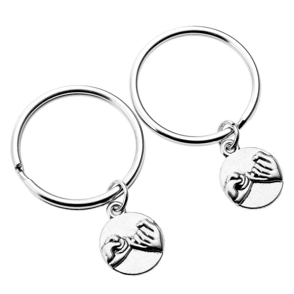 JOVIVI Partner-Anhänger Kleiner Finger Versprechen Charm Freundschaft Schlüsselanhänger Geschenk für Paare & Verliebte