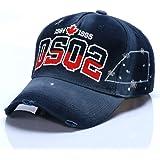 HXXBY Berretto da baseball di visiera in bianco e nero di quattro stagioni cappello da uomo Tide versione coreana del cappell