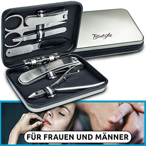 Maniküreset – ideal zur Nagelpflege – Nagelset – Nagelschere – tragbares Nagelstudio – für jeden Nageltyp