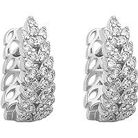 LIHELEI Orecchini in argento con zirconi cubici per donna, orecchini a polsino Cartilage Huggies Set di orecchini in…