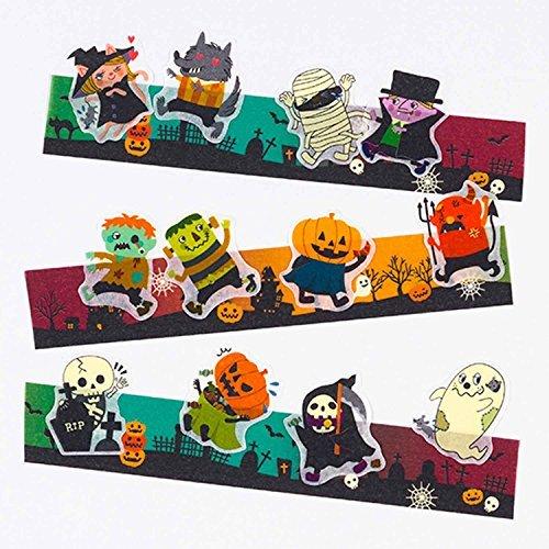 Bande Tape Set von 2Maskierung Rolle Aufkleber, Halloween Aufkleber, für Scrapbooking DIY (BDA241)