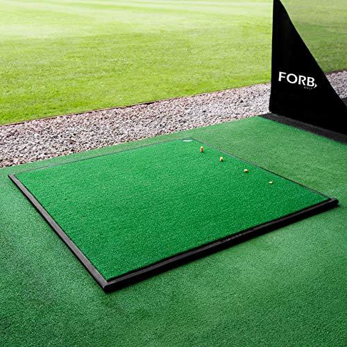 FORB Golf Driving Range Übungsmatte - 30mm Golf Kunstrasen - optionale Gummiunterlage (150cm x 150cm mit Gummiunterlage) -