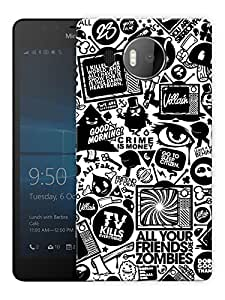 """Humor Gang Television Life Printed Designer Mobile Back Cover For """"Nokia Lumia 950 XL"""" (3D, Matte Finish, Premium Quality, Protective Snap On Slim Hard Phone Case, Multi Color)"""