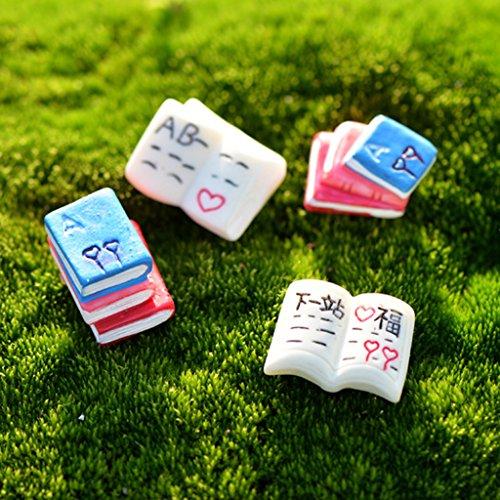 10xminiature Fata Giardino Micro Paesaggio Casa Delle Bambole Lettera Arredamento Bonsai Libro
