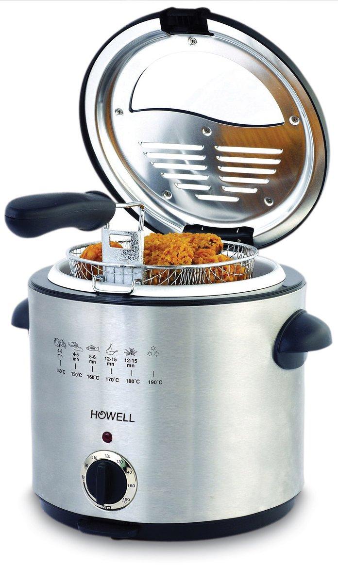 Howell HO.FRA865 Single 1.5L 900W Stainless steel fryer - fryers (1.5 L, 1.5 L, Single, Stainless s