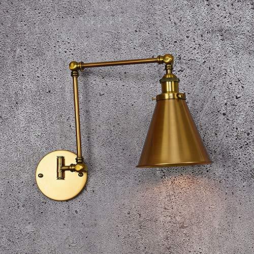 Wohnzimmer Schwingen (Wandlampe Retro Vintage Industrie Kreative Schwingen Einstellbar Metall Schwenkarm, Für Treppenhaus Flur Wohnzimmer Restaurant WandleuchteSchlafzimmer Wand)