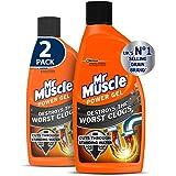 Mr Muscle Drain Unblocker, Sink & Drain Cleaner, Heavy Duty Power Gel, 2 x 500 ml