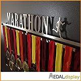 MEDALdisplay Marathon | Porta medaglie/Medagliere da Parete Medal Hanger (450 mm x 80 mm x 3 mm, Maschile)