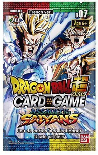 Dragon Ball Super Card Game - Booster de 12 Cartes Serie 7 : Assault of The Saiyans - Version Francaise