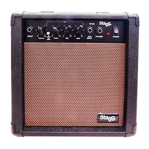 Stagg 25015609 10 AA EU Acoustic Amplifier (10 Watt, 230V) (Akustik-gitarrenverstärker Rms)