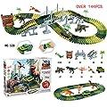 merymall Autorennbahn-Sets, Dinosaurier Spielzeug Bausteine Flexiable Rennstrecke - Kinder pädagogisches Spielzeug von merymall