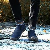 SAGUARO Herren Damen Winterschuhe Warm Gefütterte Boots Stiefelette Outdoor Waterproof Schneestiefel,Low Top Blau,40 EU - 5