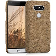 kwmobile Housse en liège LG G5 / G5 SE - Housse de protection cover en marron clair