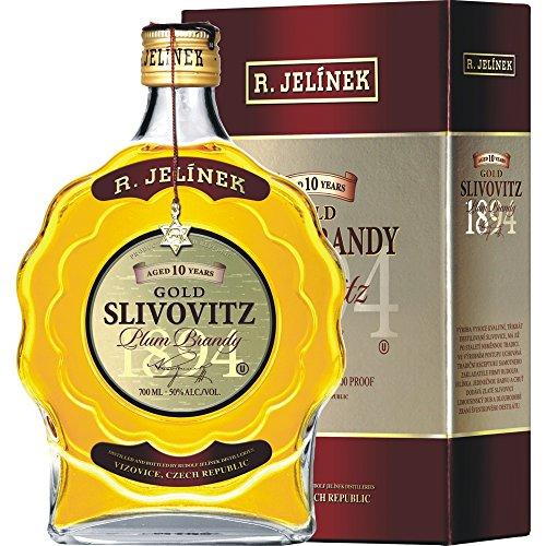 R.Jelinek, Original Czech destilleries, Slivovice Gold KOSHER 10YR 0.7 l, 50{818037b0307dc7695aab51225feb24d230f67a8188facd7f45f5c04d35f69b6c}