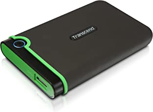 Transcend TS2TSJ25M3 StoreJet M3 externe Anti-Shock Festplatte 2TB (6,4cm (2,5 Zoll), 5400rpm, 8MB Cache, USB 3.0), 2 TB, grau/grün