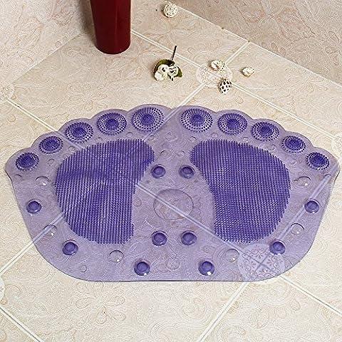 Alfombra de Baño antideslizante con un cuarto de baño ducha cupule esteras bañera ducha mat -36*58cm púrpura