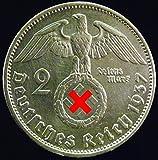 Silbermünze 2 Reichsmark 1937 A Drittes Reich - Paul von Hindenburg - Münze