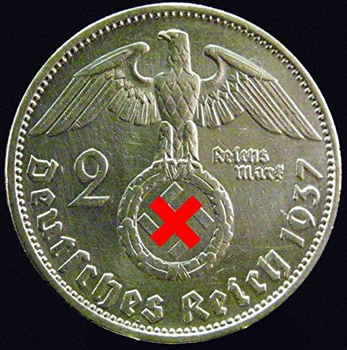 Preisvergleich Produktbild Silbermünze 2 Reichsmark 1937 A Drittes Reich - Paul von Hindenburg - Münze