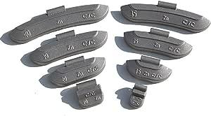 5 30g Schlaggewichte Auswuchtgewichte Wuchtgewichte Sortiment Für Stahlfelgen 600 Stück Je 100 Von 5g 10g 15g 20g 25g Und 30g Auto