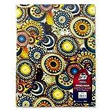 Premier Stationery - Cuaderno de notas con diseño de flores, A4, 40 páginas, 3D