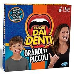 Idea Regalo - Hasbro Gaming - Fuori dai Denti Grandi vs Piccoli (Gioco in Scatola), C3145103