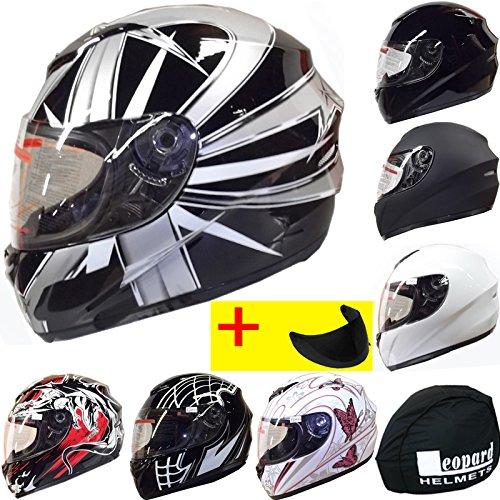 leopard-leo-819-black-starburst-full-face-helmet-motorbike-helmet-m-extra-dark-smoke-visor