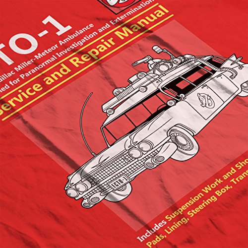 Ghostbusters Ecto1 Service And Repair Manual Men's Vest Red