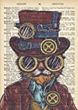 Steampunk Cat Dictionary Art Inspirational Quote Academic Planner (A5): A Monthly/Weekly Organiser for College Students