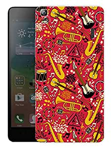 """Humor Gang Sound Of MusicPrinted Designer Mobile Back Cover For """"Lenovo K3 Note - Lenovo a7000 - A7000 Plus - A7000 Turbo"""" (3D, Matte Finish, Premium Quality, Protective Snap On Slim Hard Phone Case, Multi Color)"""