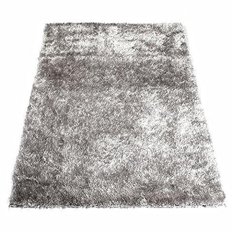 Tapis Shaggy Gris argent 60 x 120 cm