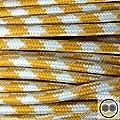 Textilkabel Stoffkabel gelb / weiss , 2-adrig rund