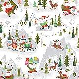 Riley Blake RBF810 Stoff für Weihnachten, 50 x 110 cm,