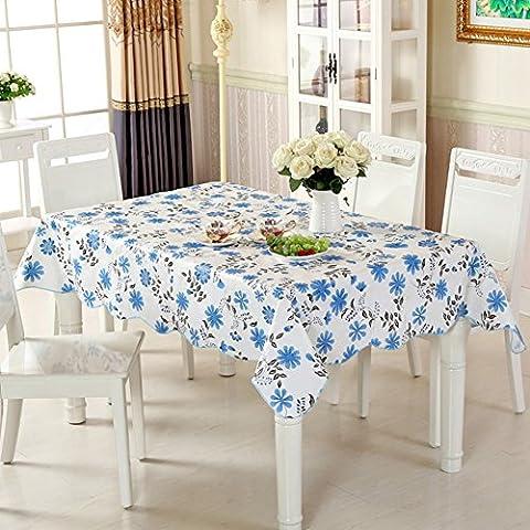 Tischtuch wasserdicht Öl-beweis einweg pvc kunststoff burn-proof rechteck quadrat europäischen stil couchtisch pad tischtuch untersetzer-H 137x183cm(54x72inch)