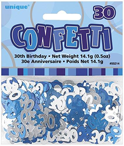 s Konfetti Blau/Grau - 30 Jahre (Geburtstag Party Ideen)
