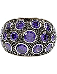 Vilma Righi Damen-Ring Sterling-Silber 925 rhodiniert Zirkonia violett Rg60 C074